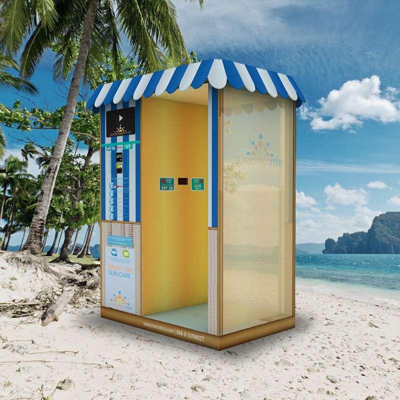 Sunscreen Mist Beach Booth