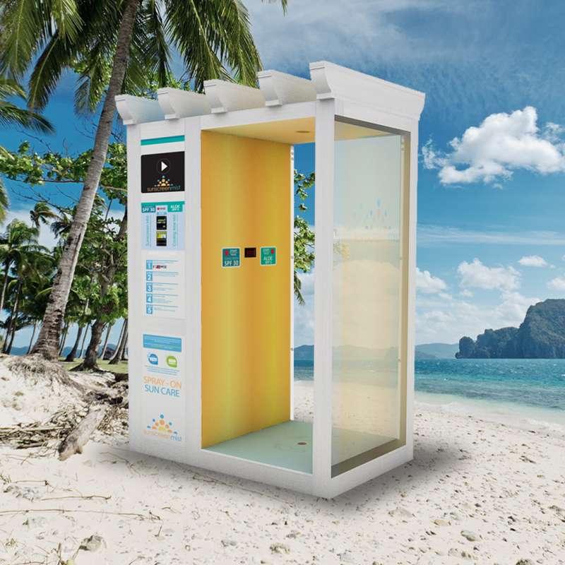 Sunscreen Mist Pergola Booth