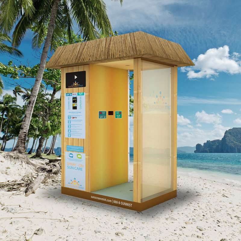 Sunscreen Mist Tiki Booth