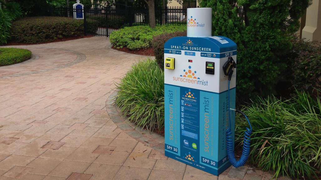 sunscreen vending machine