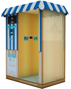 Sunscreen Mist Beach Booth