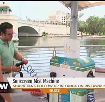 ABC Action News Catches up with Sunscreen Mist at the Tampa Riverwalk