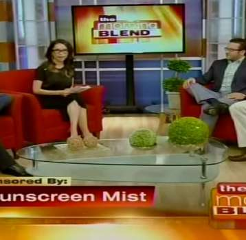 Sunscreen Mist Featured on The Morning Blend in Las Vegas